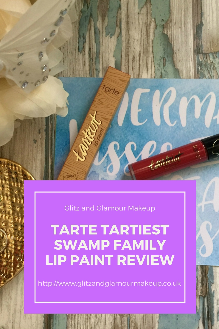 tartiest Tarte Lip Paint in Swamp Family review pinterest
