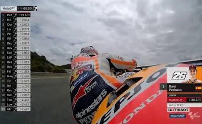 Pedrosa Tercepat Lagi di FP2 GP Spanyol, Lorenzo ke-4