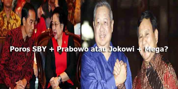 Rakyat Menunggu Poros SBY + Prabowo, Poros Jokowi + Mega Tergerus Anjlok