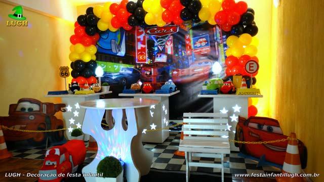 Decoração festa de aniversário infantil Carros Disney - Provençal simples