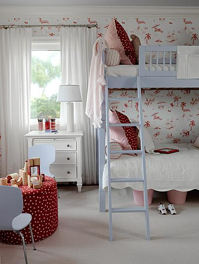 Modern Country Style: Blue And Red Colour Schemes In
