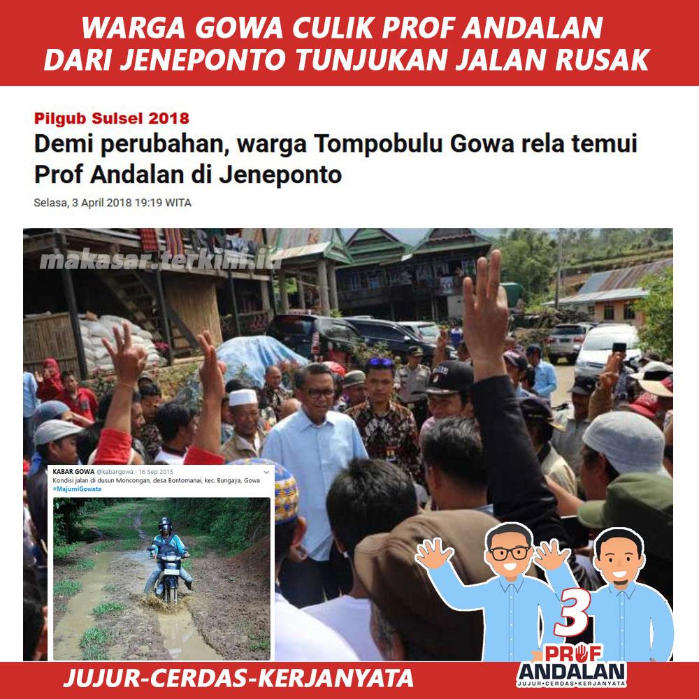 Prof Andalan Berjanji Akan Perbaiki Infrastruktur Daerah Tompobulu
