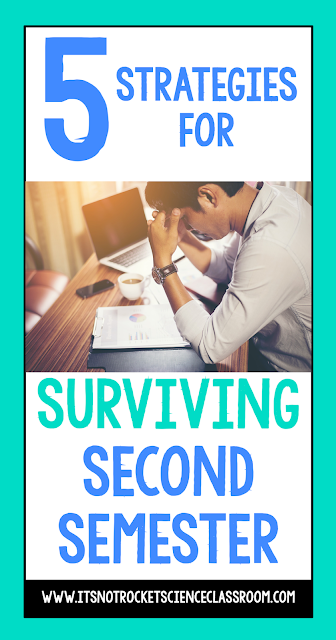 Going back to school after winter break can be a hard transition.  All teachers needs some encouragement to survive and thrive as they attempt to finish the school year strong!  Here are 5 strategies for surviving second semester!