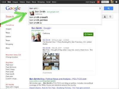 Google Plus Profile in der normalen Websuche