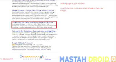 cara mudah terindex di google dengan cepat