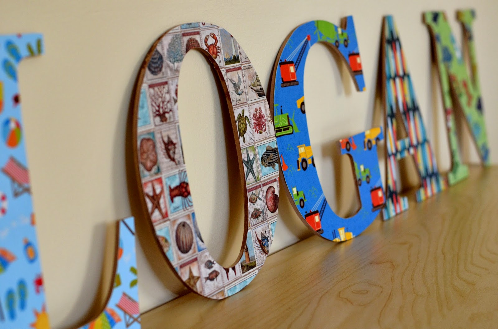 Diy Mod Podge Personalized Wood Letters Cobberson Co