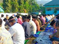 Shalat Idul Adha di Lapangan SMKPP Bima Berjalan Lancar dan Khusyu'