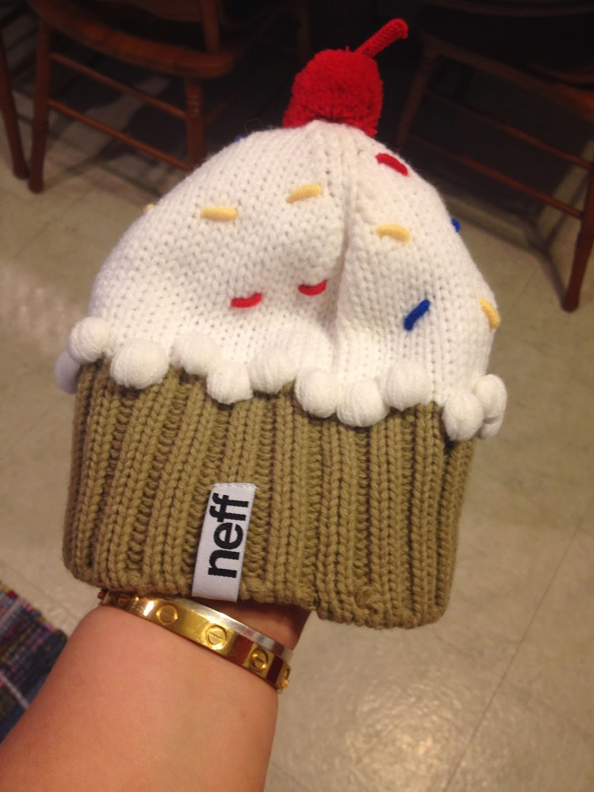 626e9a63eedc2 Today I thought I would share with you guys a pic of a new beanie that I  have recently been rockin. It s by Neff and it s the cupcake beanie