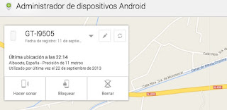 administrador de dispositivos de android para localizar tu movil