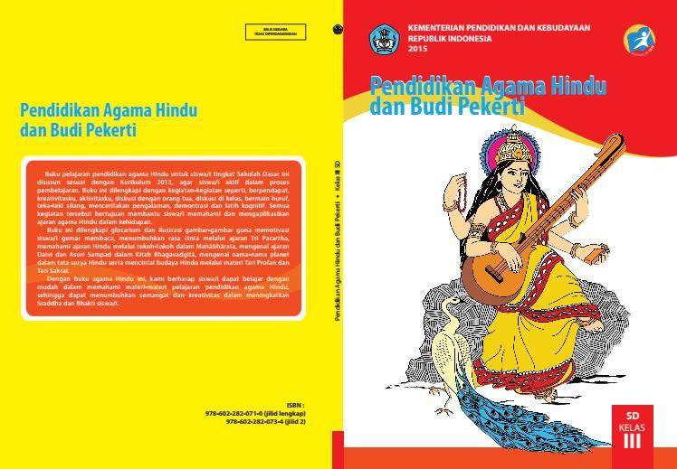 Download Gratis Buku Guru dan Buku Siswa Pendidikan Agama Hindu dan Budi Pekerti SD Kelas 3 Kurikulum 2013 Format PDF