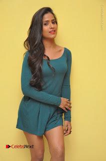 Telugu Actress Prasanthi Stills in Green Short Dress at Swachh Hyderabad Cricket Press Meet  0009.JPG