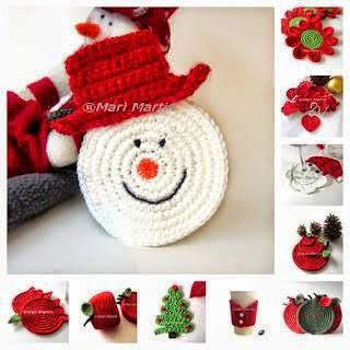 adornos de navidad de ganchillo Adornos Navidad Crochet Beautiful Adornos Navideos With