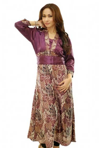 gaun batik long dress