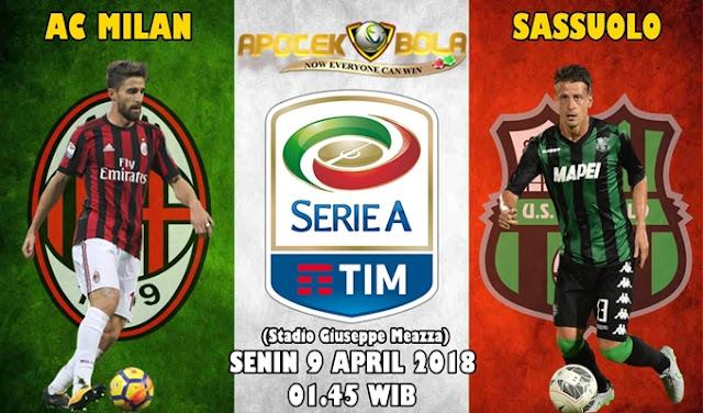 Prediksi AC Milan vs Sassuolo 9 April 2018