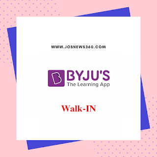 BYJU's Walk-IN 2019 all over India (BDA Post)