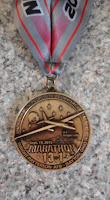 wright-patterson air force base half marathon finisher's medal
