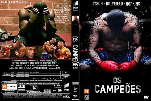 Capa DVD Os Campeões