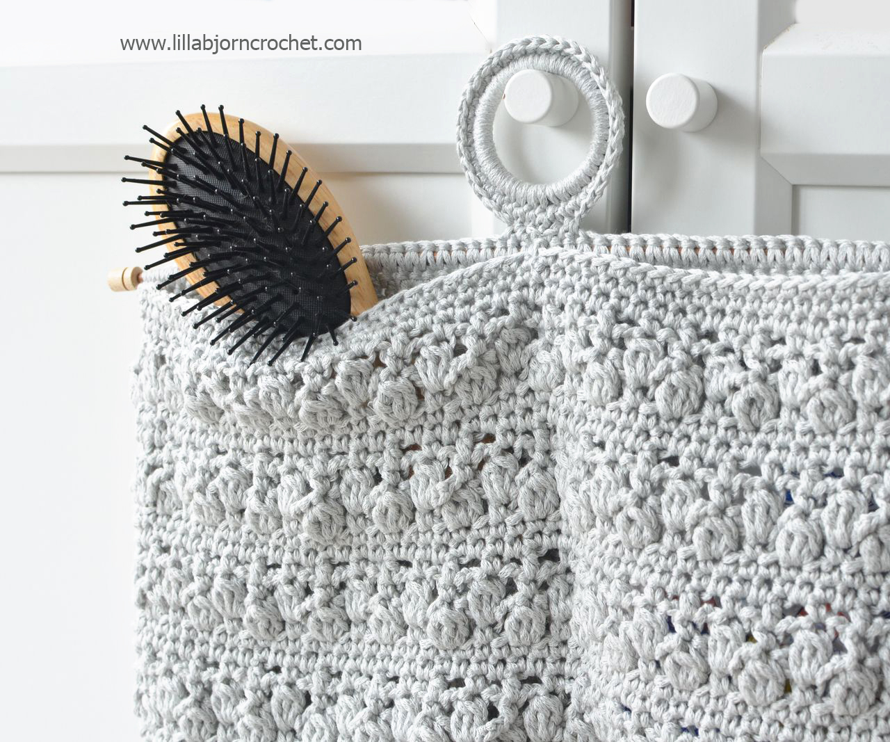Bathroom Organizer - free crochet pattern by Lilla Bjorn Crochet