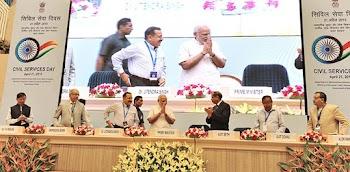PM Modi to falicite four Collectors of MP on Civil Service Day