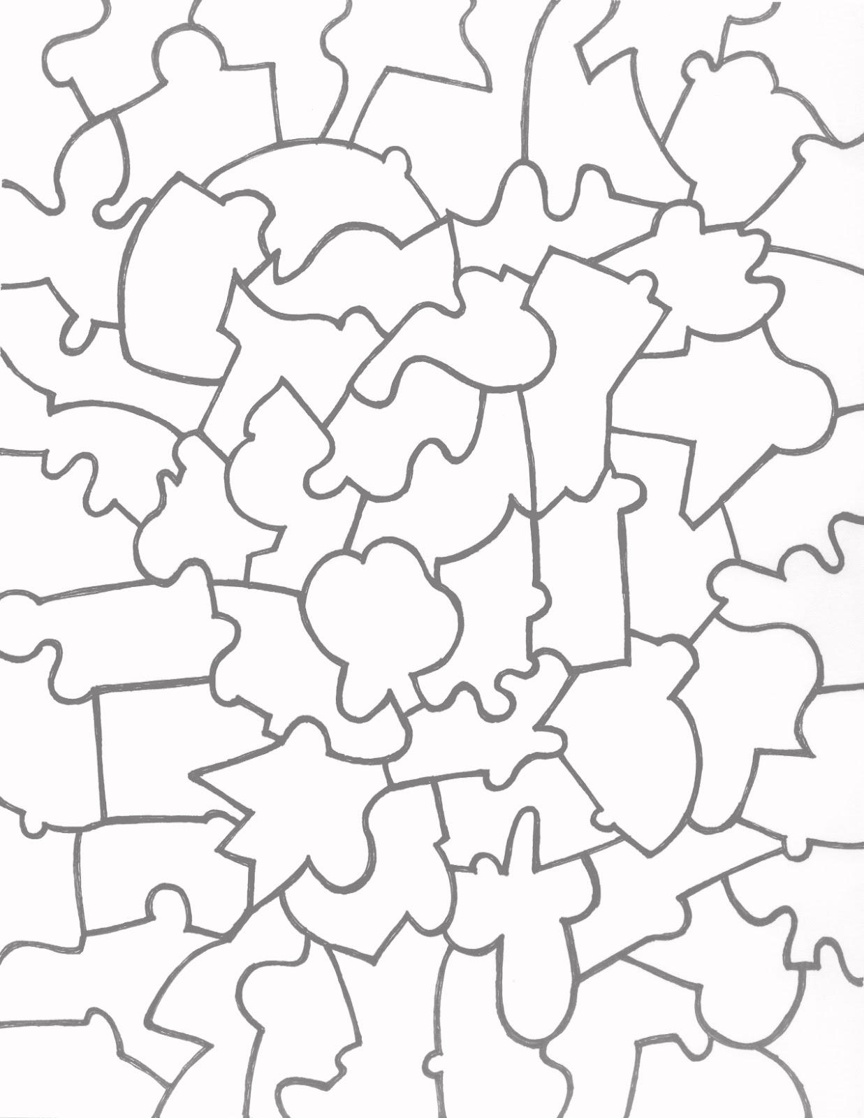 Paper Jigsaw Puzzle Templates