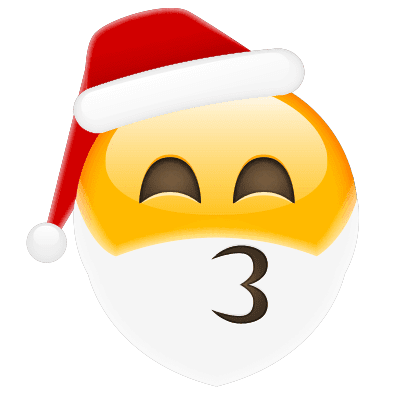 Kissing Santa Emoji