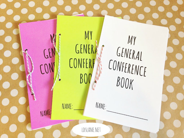 LDS General Conference activity books - 2018 version! ldslane.net