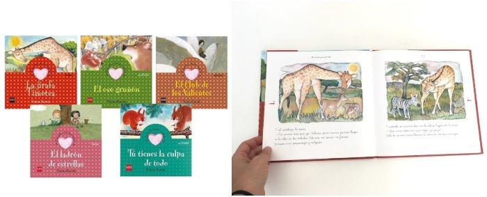 cuentos libros infantiles en letra ligada colección cuentos para sentir, Begoña Ibarrola