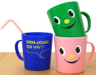diseño creativo de taza cara feliz