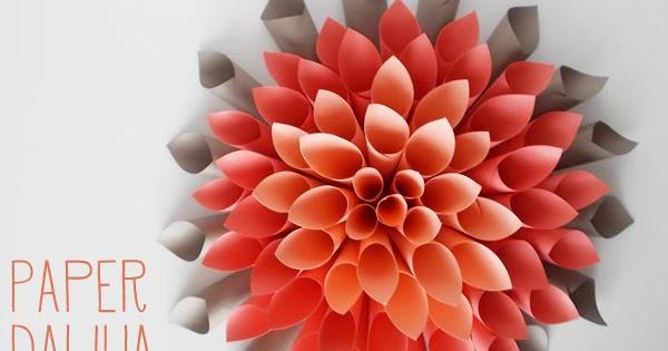 Diy Paper Dahlia Wreath The Idea King