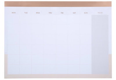 Kmart Marble Rose Gold A4 Monthly Planner