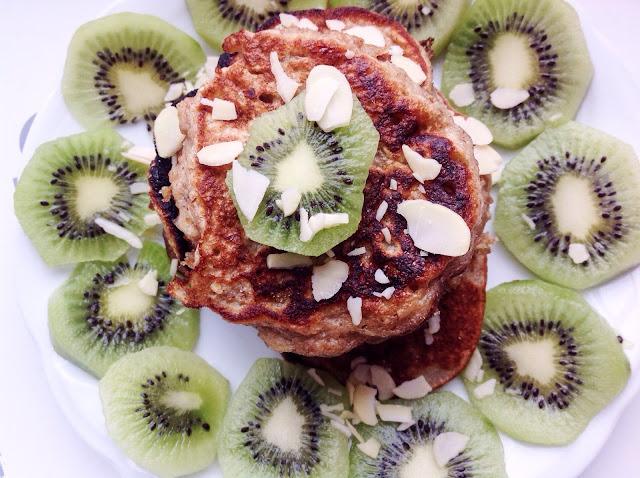 Bananowe fit pancakes