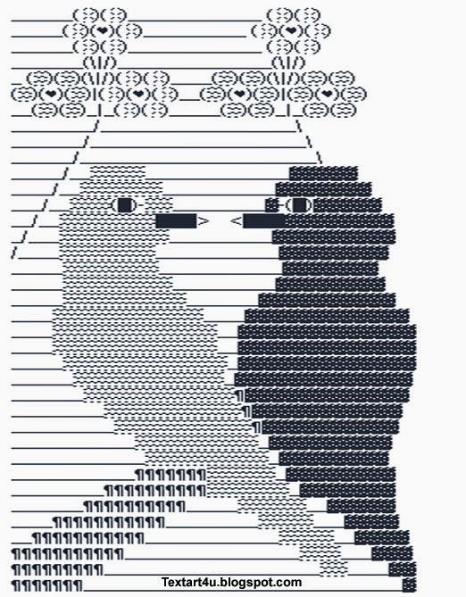 Couple Birds Love Ascii Text Art Cool Ascii Text Art 4 U