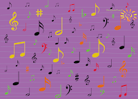 Music madness notes and music symbols by The Book Portal