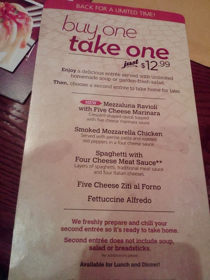 Olive Garden Buy One Get One Review Chitchatmom