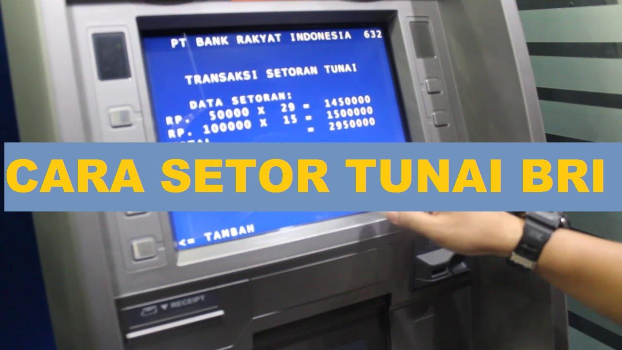 Cara Setor Tunai/ Menabung di Bank Lewat ATM BRI Jenis CDM