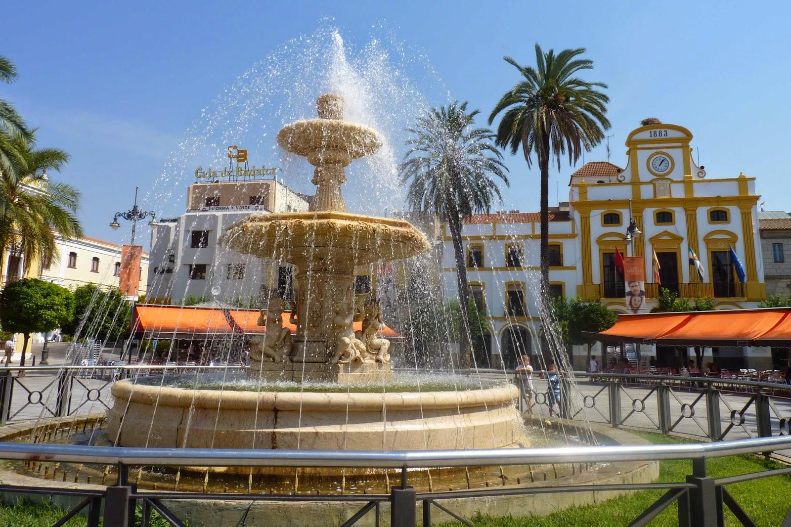 Plaza de España o Plaza Mayor de Mérida.