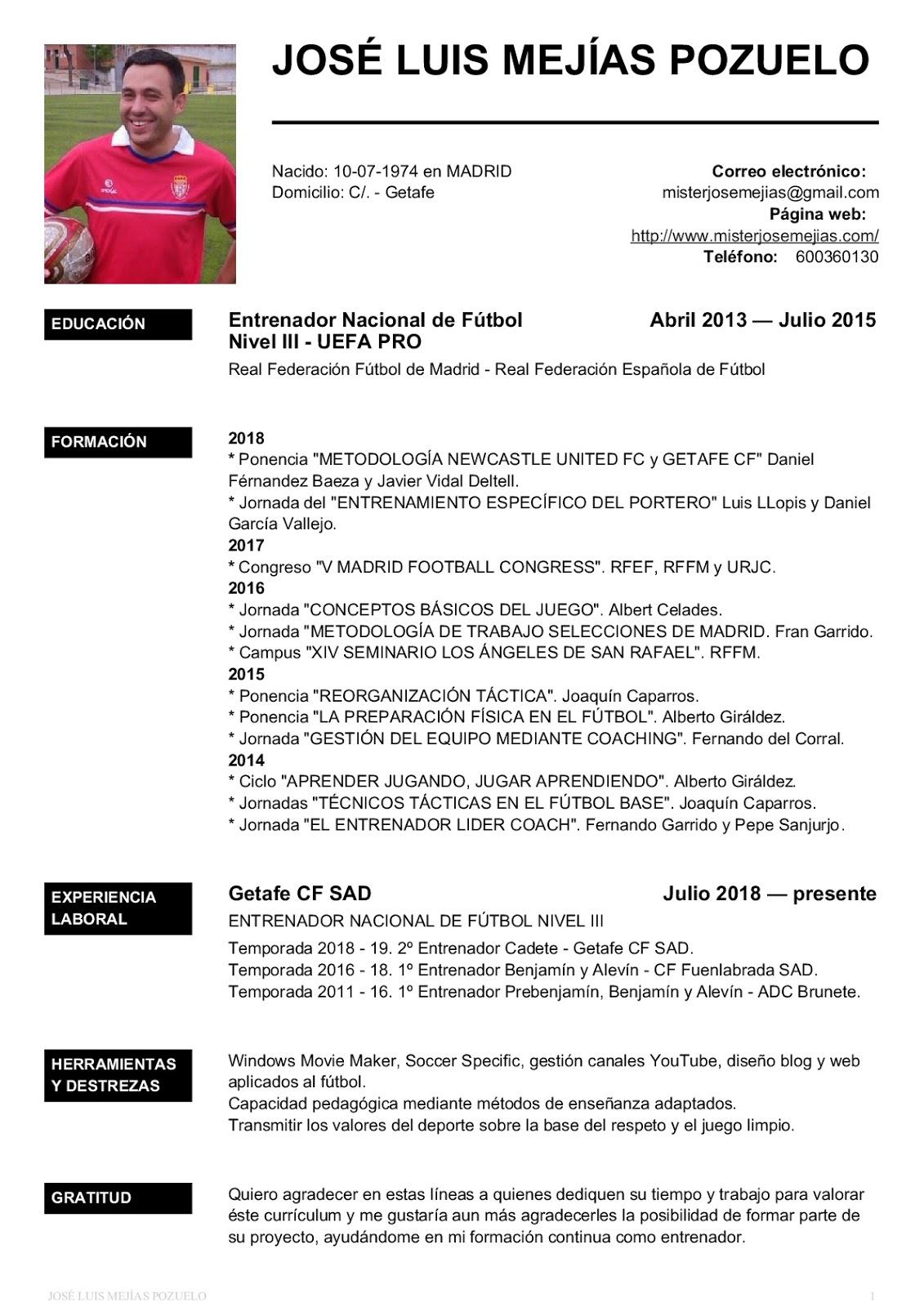 Excelente Imagen Para Muestra De Currículum Imagen - Colección De ...