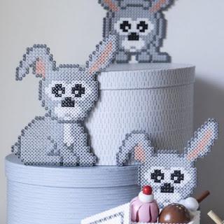 hama boncuğu tavşan