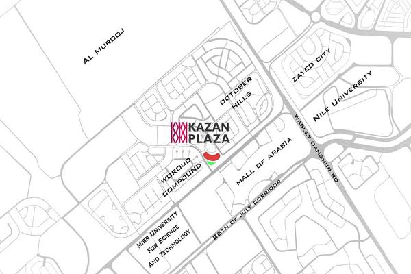 اسعار ومساحات الوحدات الطبية بمول كازان بلازا kazan blaza المرحلة الاخيرة