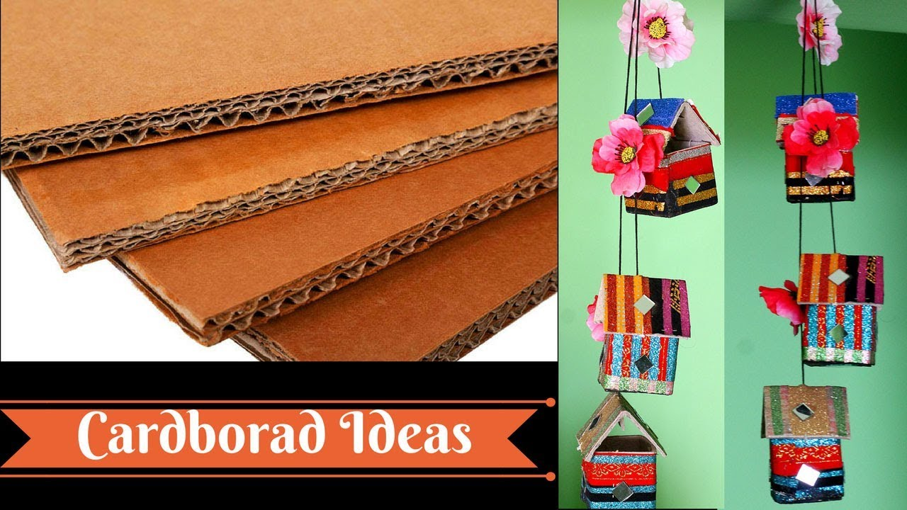 How To Make Wall Hangings With Waste Material Crazzy Crafting