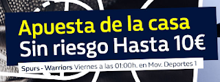 William Hill promocion San Antonio vs Golden State 3 noviembre