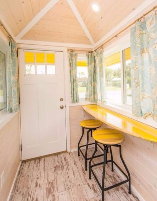 Surf Board Bar in Tiny House