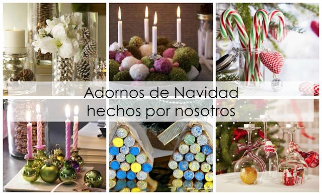 Adornos navide os low cost decoraci n - Centros de mesa navidenos hechos a mano ...