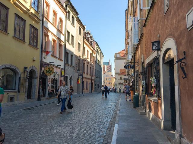 Busy Street in Warsaw