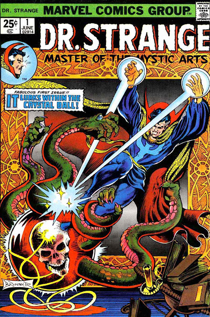 Dr. Strange v2 #1, 1974 marvel bronze age comic book cover by frank brunner