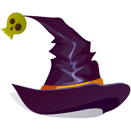 Witch hat icon for Facebook
