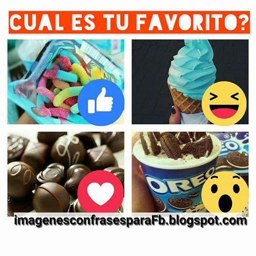 Cuál es tu dulce favorito?