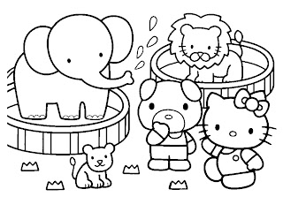 Hello Kitty And Friends In Carnaval Printable Coloring Pages