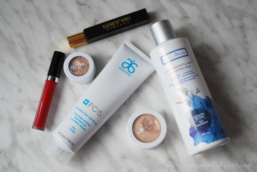 bbloggers, bbloggersca, canadian beauty bloggers, arbonne, arbonne canada, elizabeth and james, nirvana black, new cell scrub, colourpop cosmetics, lunch money, supermodel, bleu lavande, cleansing milk