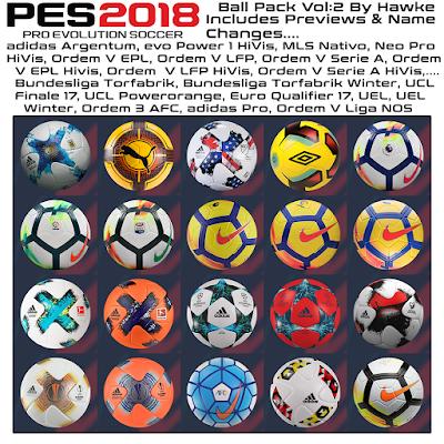 PES 2018 Ballpack Vol.2 by Hawke Season 2017/2018